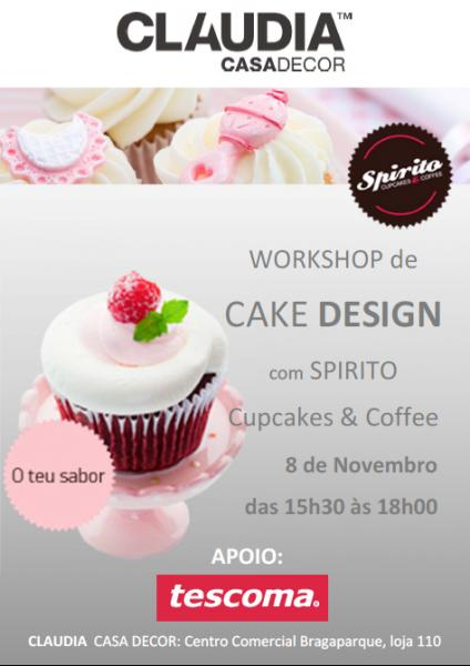 WORKSHOP DE CAKE DESIGN – BRAGA - GRATIS